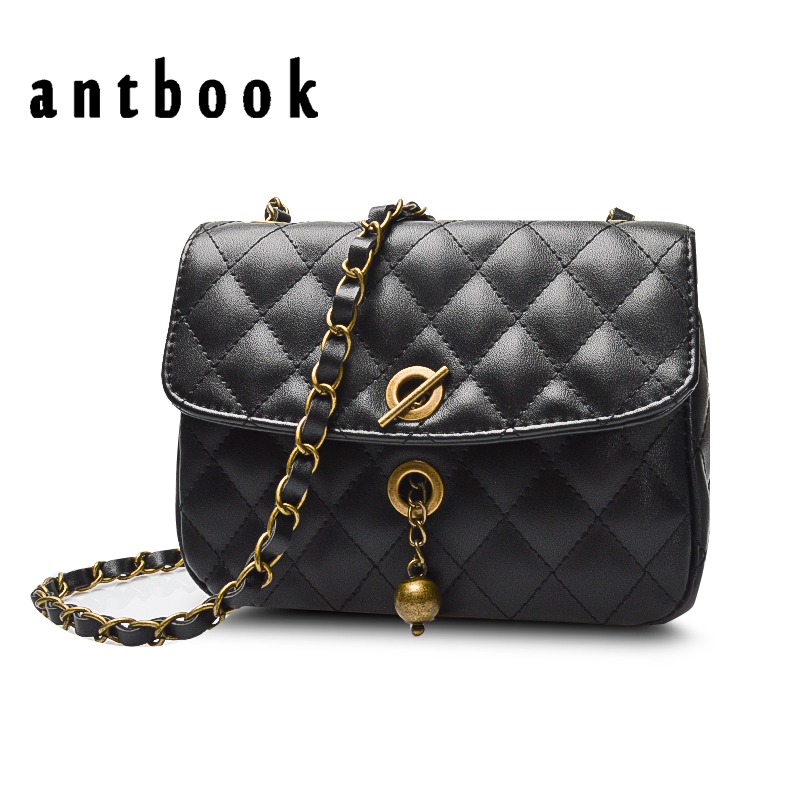 ANTBOOK Fashion New Women Chain Shoulder Bag Ladies Diamond Lattice Crossbody Bags For Women Pu Leather Messenger Bag Petite Sac fashion sheepskin mini women bag retro small fragrant bag chain diamond lattice small shoulder bags hasp women messenger bags