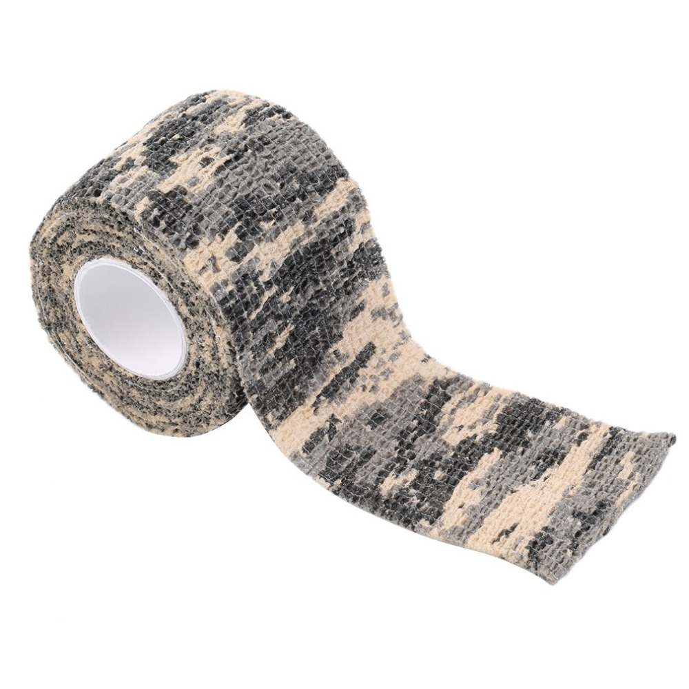 Baru 1 Roll Men Army Adhesive Camouflage Tape Stealth Wrap Outdoor Hunting New HOT
