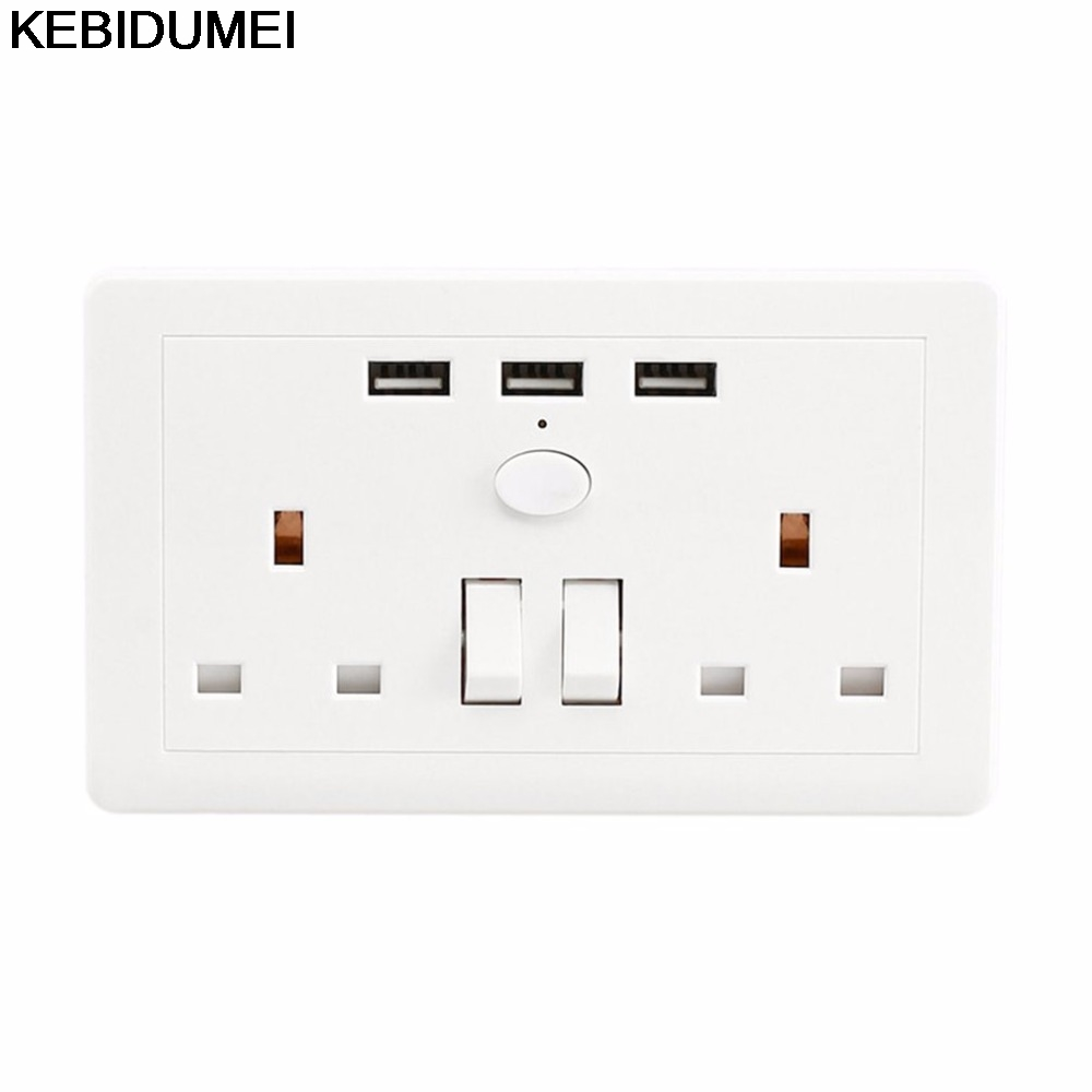 Online Shop KEBIDUMEI Power Socket With USB Switch In The Wall ...