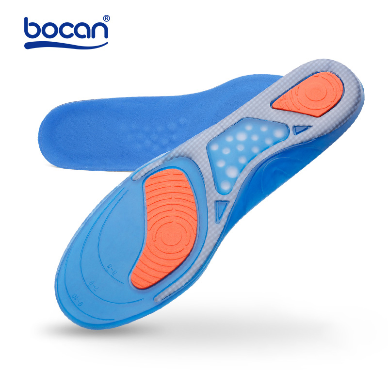Bocan Gel insoles 1 pair Top Quality Inserts Comfortable Shoe Insoles shock absorption insole for men and women стоимость
