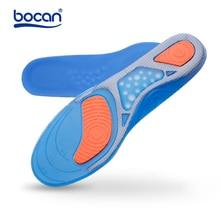 Купить с кэшбэком Hot gel sport shoe insoles men and woen's elastic cushion protect comfy arch support pads accessories