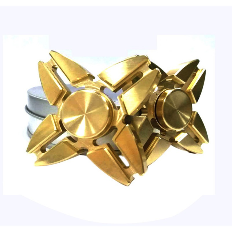 1PC High Quality Gold Fidget Hand Spinner Finger Tri Spinner Metal Classic Fidget Spinner Relieve Stress