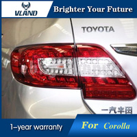 Vland Светодиодные ленты задние фонари красные, черные taillamp для Toyota Corolla Altis 2011 2013