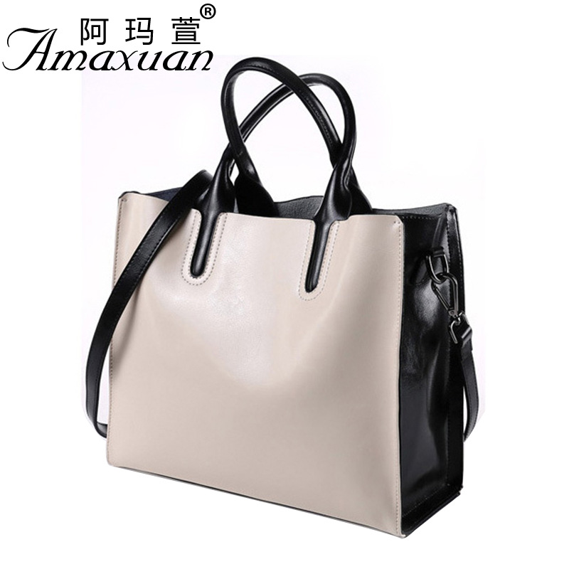 2017 New Style Women Soft Leather Handbags Fashion Solid Messenger Shouldr Bag Leisure Women Single Shoulder