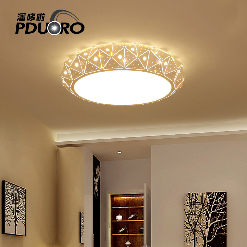 Modern Ceiling Lights Led Lamp Remote Control Dimming Lighting Fixture Living Room Bedroom Restaurant Dining Room Light Fixtures black and white round lamp modern led light remote control dimmer ceiling lighting home fixtures