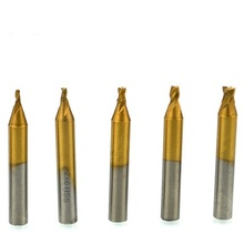 Milling Key-Cutter Vertical-Key-Machine-Parts HSS for 4pcs/Lot High-Quality Titanized-End-Mill