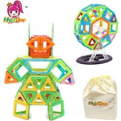 Mylitdear magnético blocos de construção brinquedos do bebê 116 pçs tamanho grande robô designer iluminar magnético modelo kits brinquedos para crianças