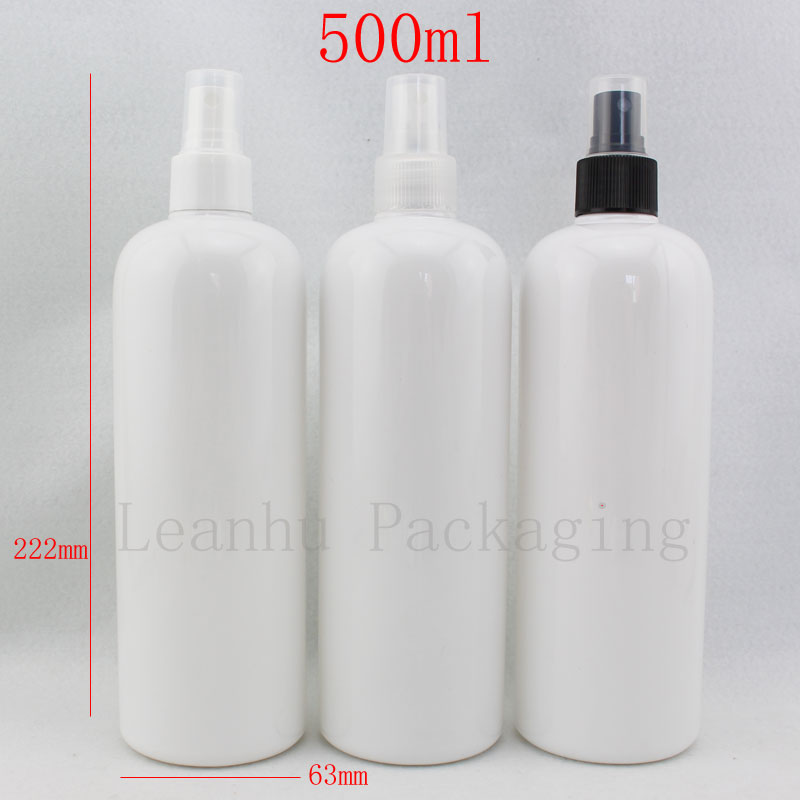 500ml X 12 White Spray Bottle, Empty Cosmetic Containers
