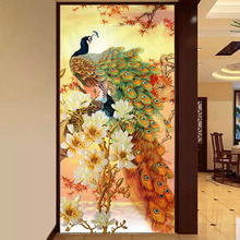 5D Diy Diamond Painting Cross Stitch full Square Round Embroidery Peacock and flower picture for wall room Decor H880