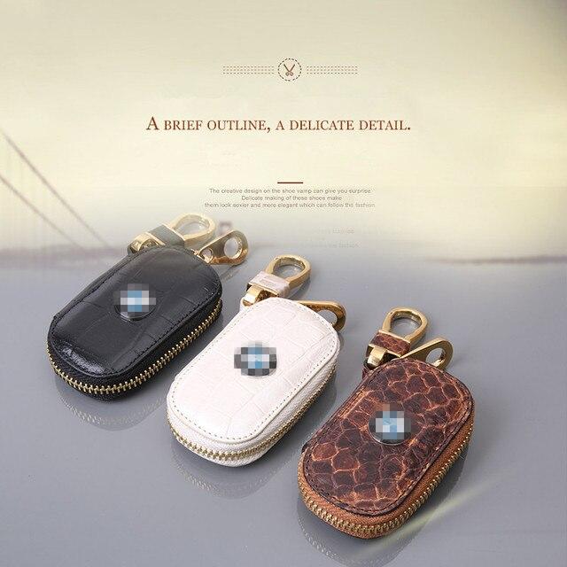 LUALAICNEY МАРКА брелок для BMW мода классический дизайн подлинные ключи от машины кожаный чехол