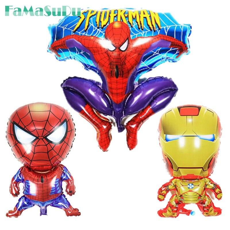 1 шт. паук Железный человек шары мультфильм шары для мальчика на день рождения шары детям игрушки