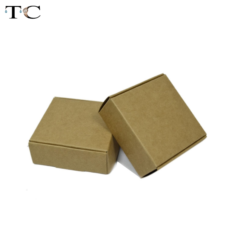 5*5*3cm Natural Kraft paper gift box for wedding,birthday ...