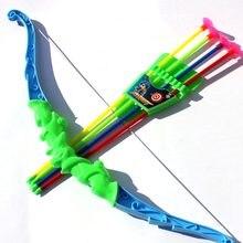 54a0092c9 Juguete arco y flechas para niños al aire libre Mini ballesta arco y flecha  traje de niño modelo tiroteo juguete regalos tonto b.