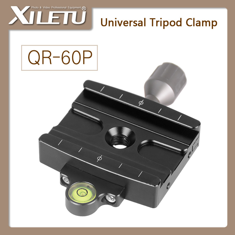 Free Shipping XILETU QR-60P Camera Tripod Monopod Clamp Adapter Quick Release Clamp For Manfrotto Gitzo RRS ARCA-SWISS SIRUI
