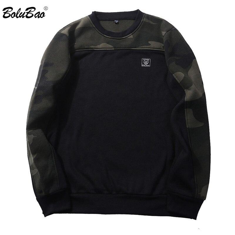 BOLUBAO 2018 New Hoodie Hip Hop Street Wear Sweatshirts Skateboard Unisex Pullover Male Camouflage Hoodies