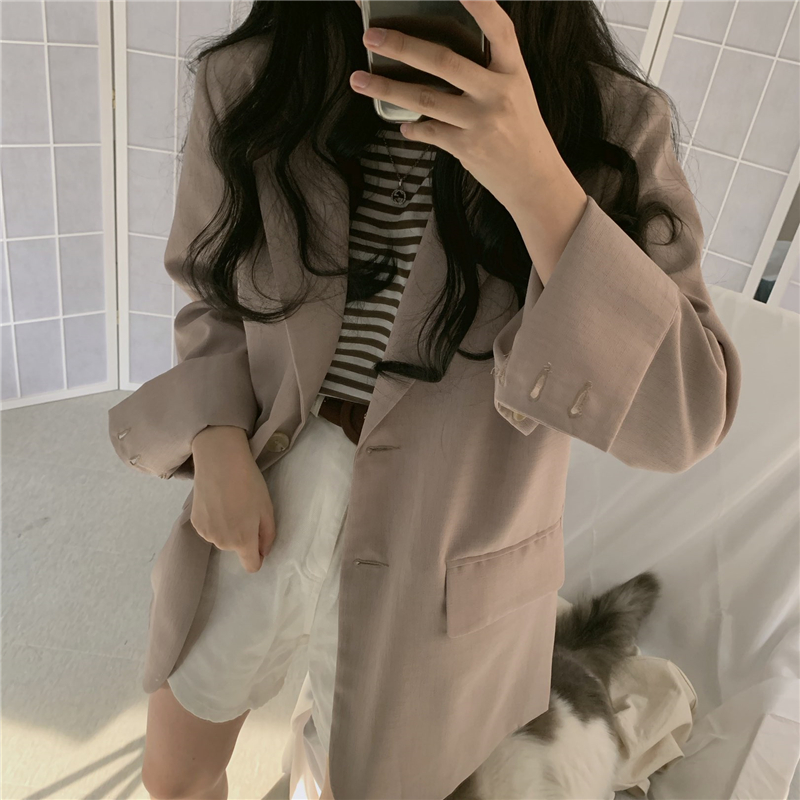 Autumn Loose Women Blazer Oversized Single-breasted Fashion Women Jacket Coats Casual Female Winter Blazers Outerwear 2019