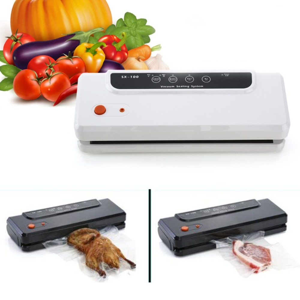 110-240V Multi-function Food Vacuum Sealer Home Automatic Vacuum Sealing Packer Plastic Bag Packing Machine 150W J32C35 jiqi 100w portable pro smart mini food automatic sealing machine one button vacuum sealer for seal pack opp pe plastic bag