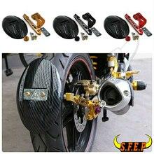 Para Kawasaki Z125/Z125Pro/Rc150 Placa Areia Depois Modificado De Fibra De Carbono
