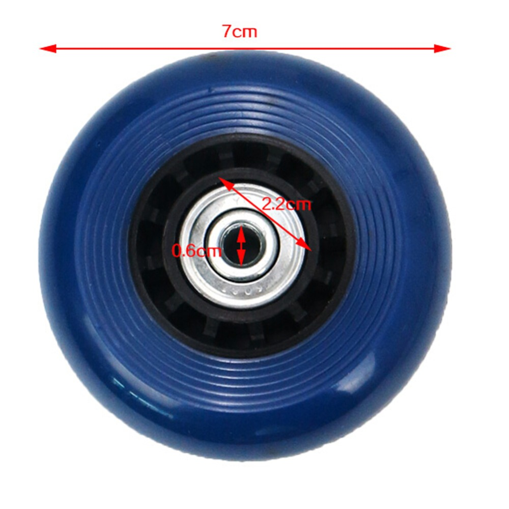 New Travel Accessories Luggage Suitcase Replacement Wheels Axles Deluxe Repair OD 70 mm Blue