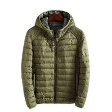 drop shipping newest men winter jacket hooded light weight keep warm winter parkas outwear overcoat AXP172