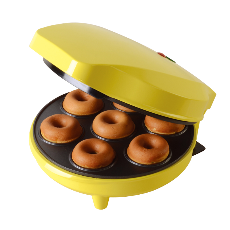 DMWD Home DIY Donut Maker Doughnut Machine Party Dessert Bakeware Electric Baking Pan Non-stick Double-sided Heating 220V стоимость