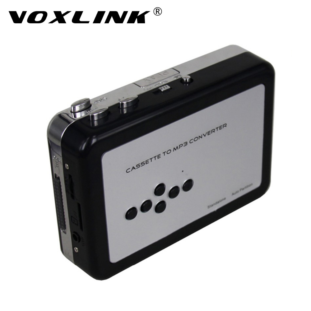 VOXLINK USB Cassette Player and Converter Convert Old Tape to MP3 Format into TF/Micro SD Card Support AA Battery or USB-powered ...