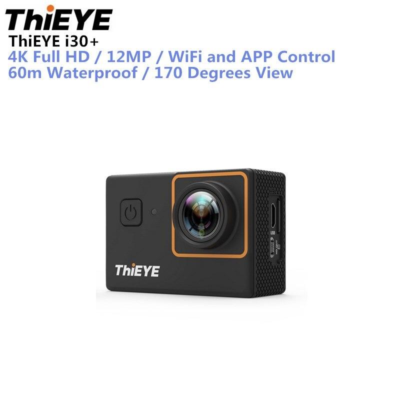 ThiEYE I30 + Ultra HD caméra d'action 4 K 10fps 12 M Résolution Et 60 m Étanche 2.0 ''Écran D'action cam Go Sports Caméra Pro
