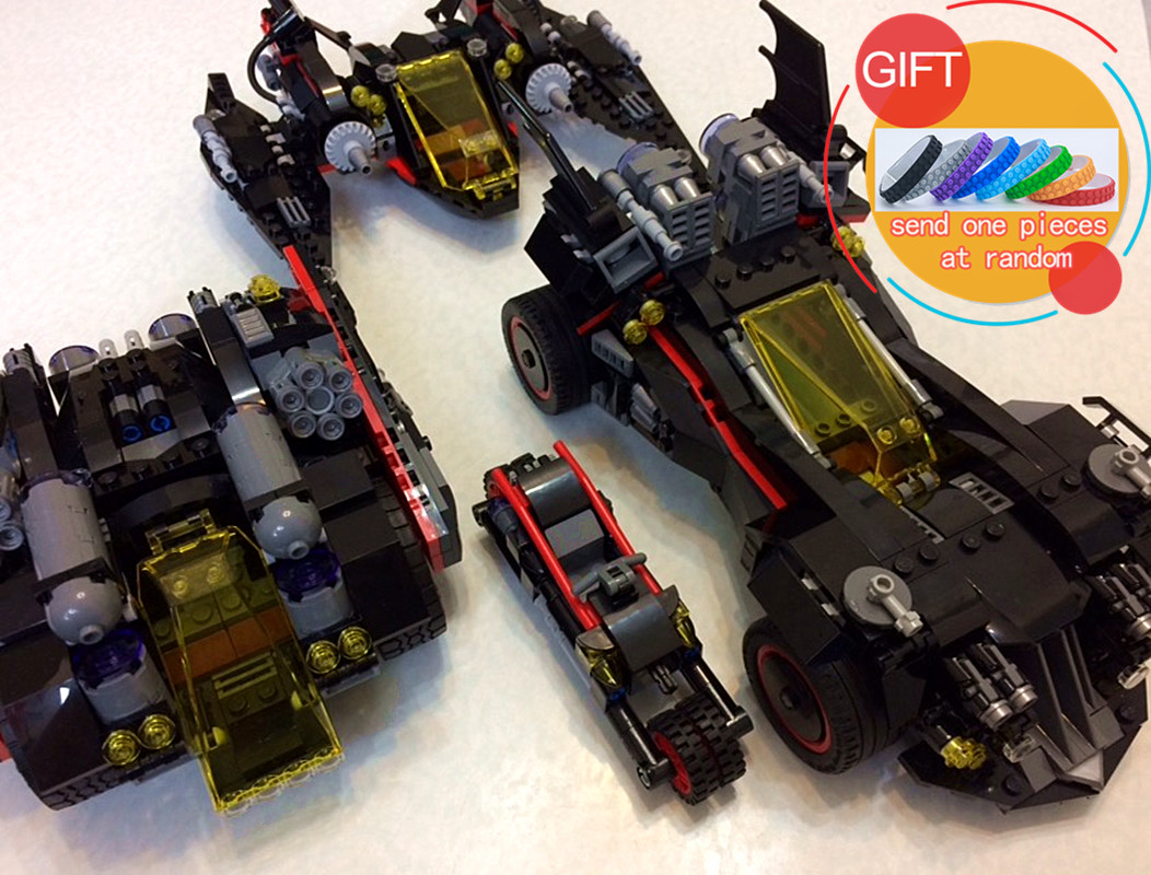 07077 1496pcs The Ultimate Batmobile Set DIY Toys Genuine Batman Movie Series Educational Building Blocks Bricks 70917 lepin gonlei new 610pcs 10634 batman movie the batmobile building blocks set diy bricks toys gift for children compatible lepin 70905