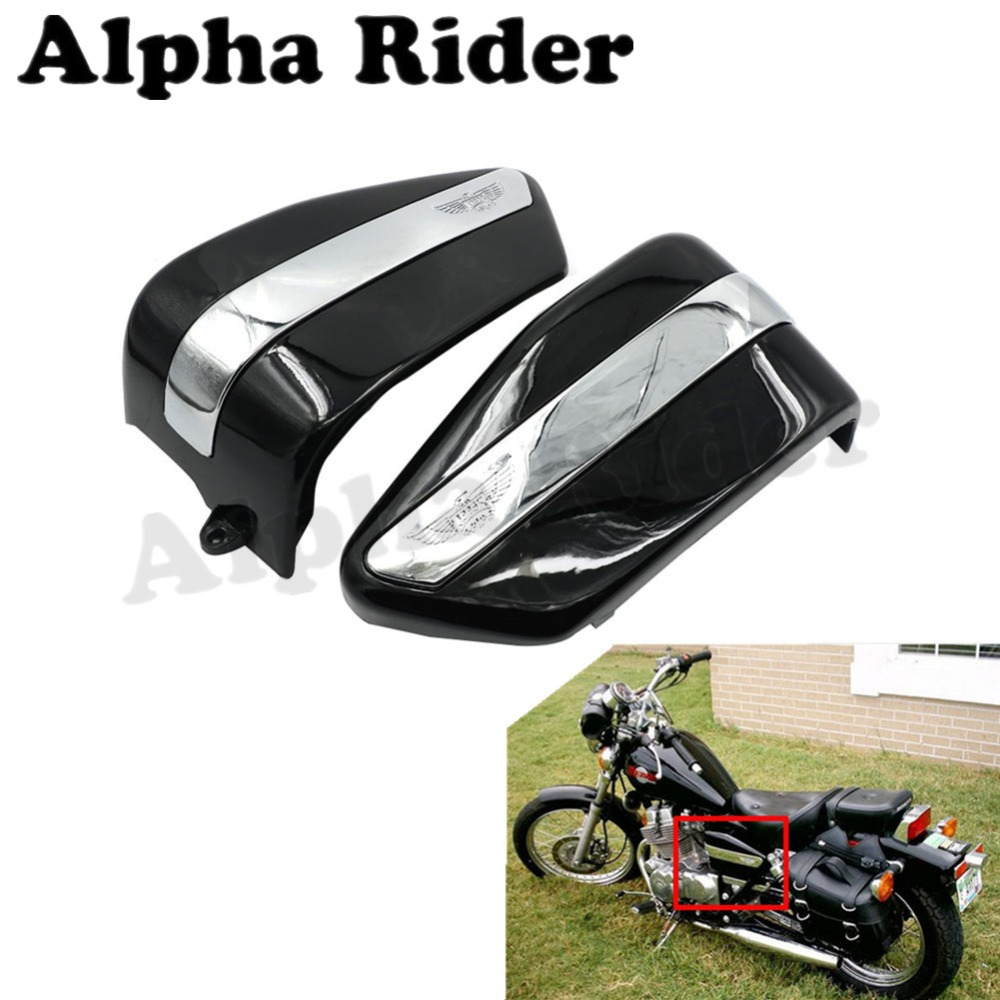 Motorcycle battery cover side body guard protect for honda rebel ca250 cmx250 1996 2005 2004