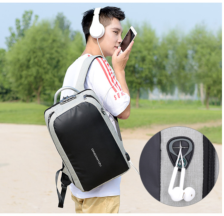 HTB1 M5tXjLuK1Rjy0Fhq6xpdFXaW - New Teenager Campus backpack Student multifunctional anti-theft