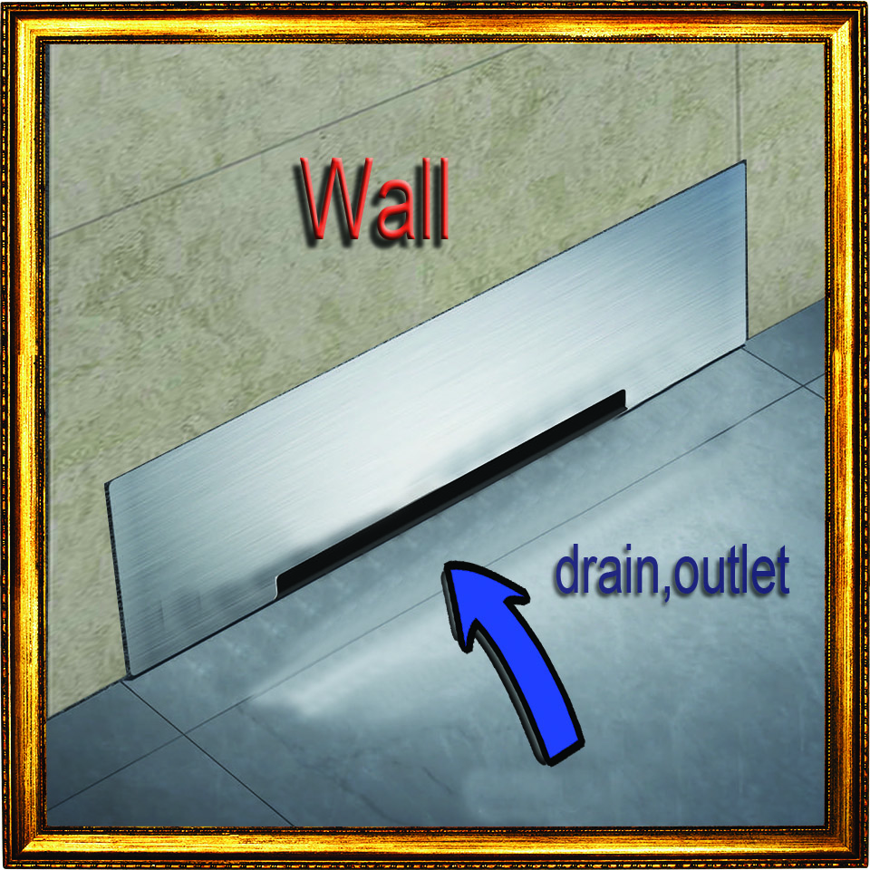 Wall Drainage Large-traffic Stainless Steel 30cm Bathroom Accessories Shower Floor Drain Big Flow Rate Refuse Nasty Smell Bathroom Fixtures Drains