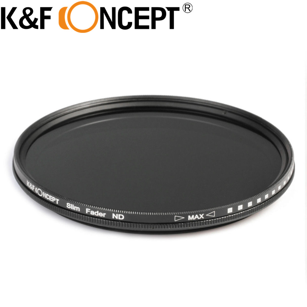 K & F CONCEPT 40.5mm Slim Fader Réglable Variable ND2 ND400 Filtre Densité Neutre Pour Samsung NX1100 NX2000 DSLR caméra