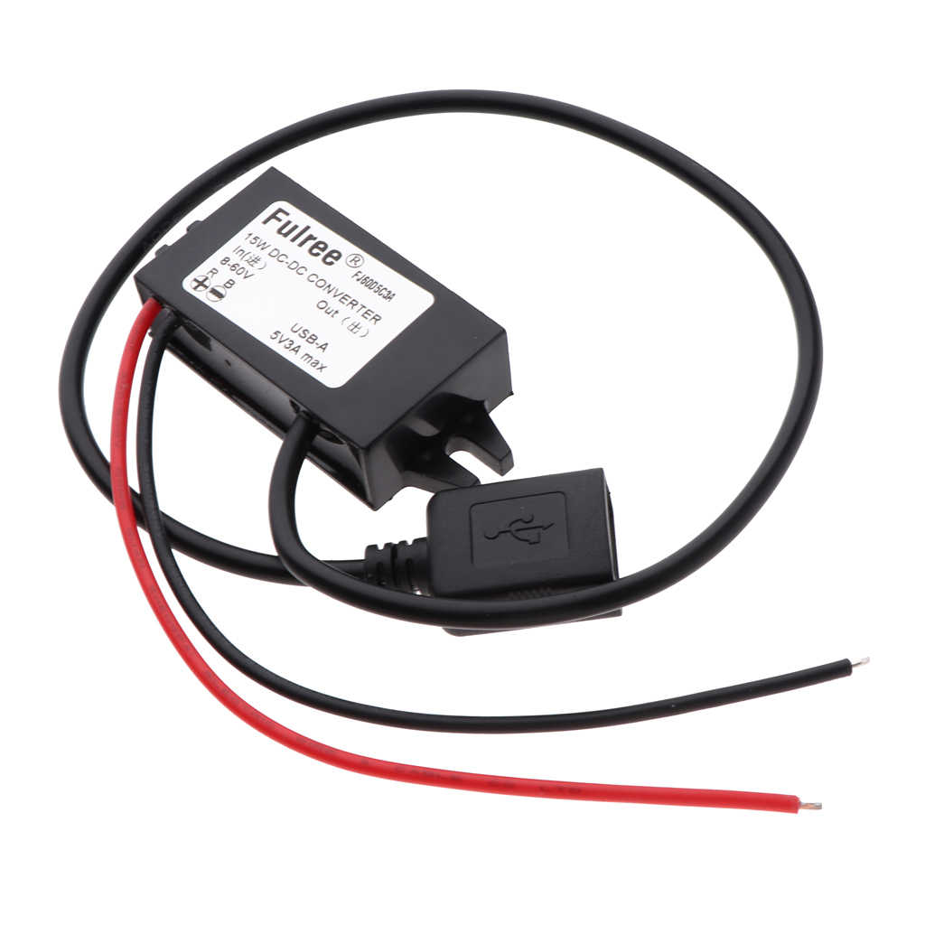 8-60V untuk 5V USB DC-DC Daya Tahan Air Step Down Voltage Converter Power Supply Buck Charger adaptor Inverter