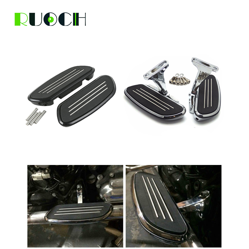 Motorcycle Chrome Passenger Foot Board Floorboard For Harley Touring Road King