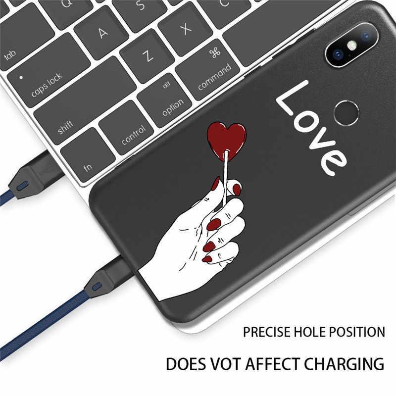 Lovebay абстрактный Бисер для украшения для Redmi K20 Note 5A 6 7 модный любовник лицо мягкий TPU для Xiaomi Mi8 Mi6 Mi9 Max3 Mix2 6X чехол
