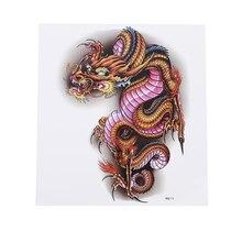 Стикер татуировки дракона водонепроницаемая мужская картина картинка грудь назад пот личность круто