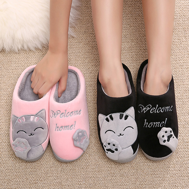 Cat Slippers for Winter Time