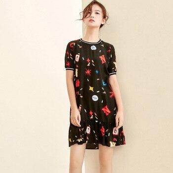 silk floral plus size summer dress women s sexy club retro beach boho dresses long 2019 black letter flower loose elegant