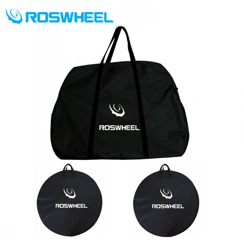 2018 Carry Pack 1pcs Cycling New MTB Road Folding Bike Storage Whole Bicycle Carrier Transport Bag + 2pcs Wheel Bag wheel up bicycle rear seat trunk bag full waterproof big capacity 27l mtb road bike rear bag tail seat panniers cycling touring