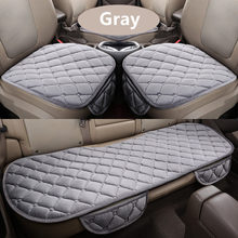 3Pcs/Set Car Supplies Square Style Luxurious Warm Seat Cover Cushion Winter Universal Front Back Covers Chair Pad