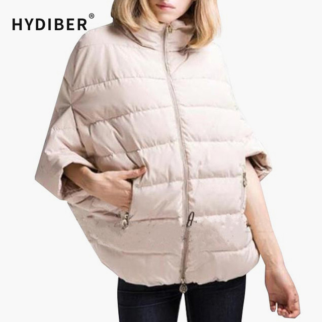 2015 Autumn Winter Short Jacket Women Coat Half Bat Sleeved Black Short Outerwear Cotton-Padded Solid Cotton Coat Jacket Z106
