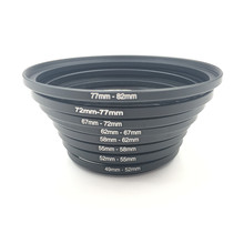 9 шт. металлические повышающие кольца алюминиевый Универсальный адаптер для объектива набор фильтров 37-49-52-55-58-62-67-72-77mm