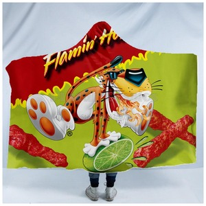 Image 4 - Plstar Cosmos Hot Cheetos food Harajuk funny  Hooded Blanket 3D full print Wearable Blanket Adults men women style 1