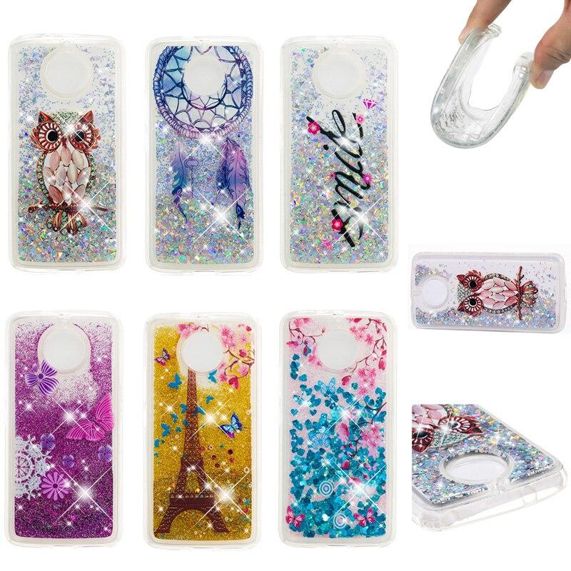 Glitter Liquid Sand Quicksand Soft TPU Silicone Phone Cover Shell Coque Capa for Motorola E4 US EU E5 C G5S G6 Plus Z3 Play Case