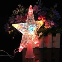 Color Changing Xmas Christmas Tree Topper Star Light Party LED Lamp Decoration %328/310