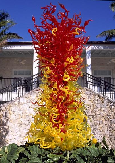 Elegant Special Villa Decoration Garden Art Deco Sculpture Dale Chihuliy  Style Murano Glass Sculpture