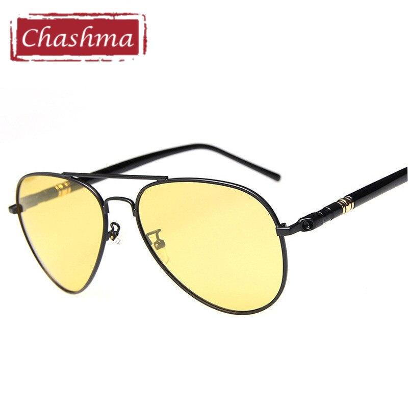 Classic Design Pilot Myopia Night Driving Glasses Anti Glare Polarized Men Sunglasses Yellow Lenses Prescription Sun