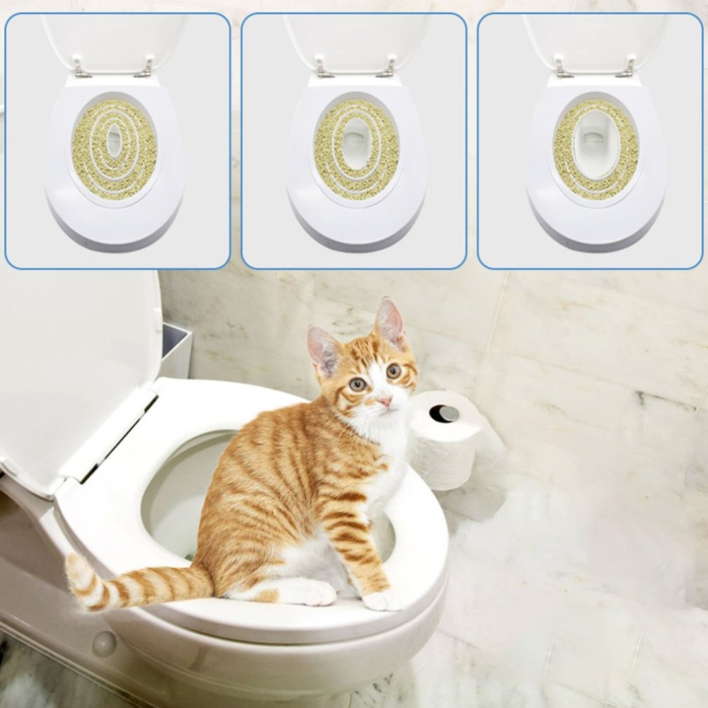 Pet Cat Toilet Training Kit Pet Tray Kit Hygienic Potty Training Potty Training Pet Hygiene Training Step-by-step System Supplie #2