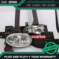 2 шт./пара 4 дюймов 30 Вт галогенные противотуманных фар для Honda Accord 2008 высокое Мощность противотуманная Галоген Авто DRL освещение светодиодны