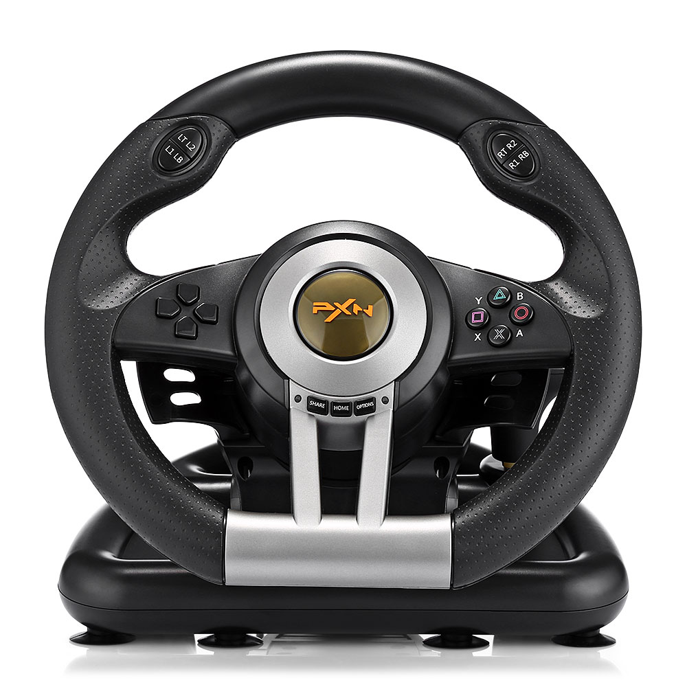 все цены на PXN V3II Racing Game Steering Wheel USB Vibration Dual Motor Foldable Pedal Game Controller for PC PS3 PS4 Xbox One PXN-V3II